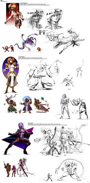 LAND - Elayendii figure drawings