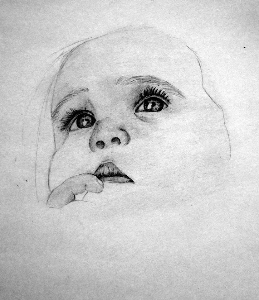 Cute girl pencil draw by jivanika on deviantart for Pencil sketch of cute girl