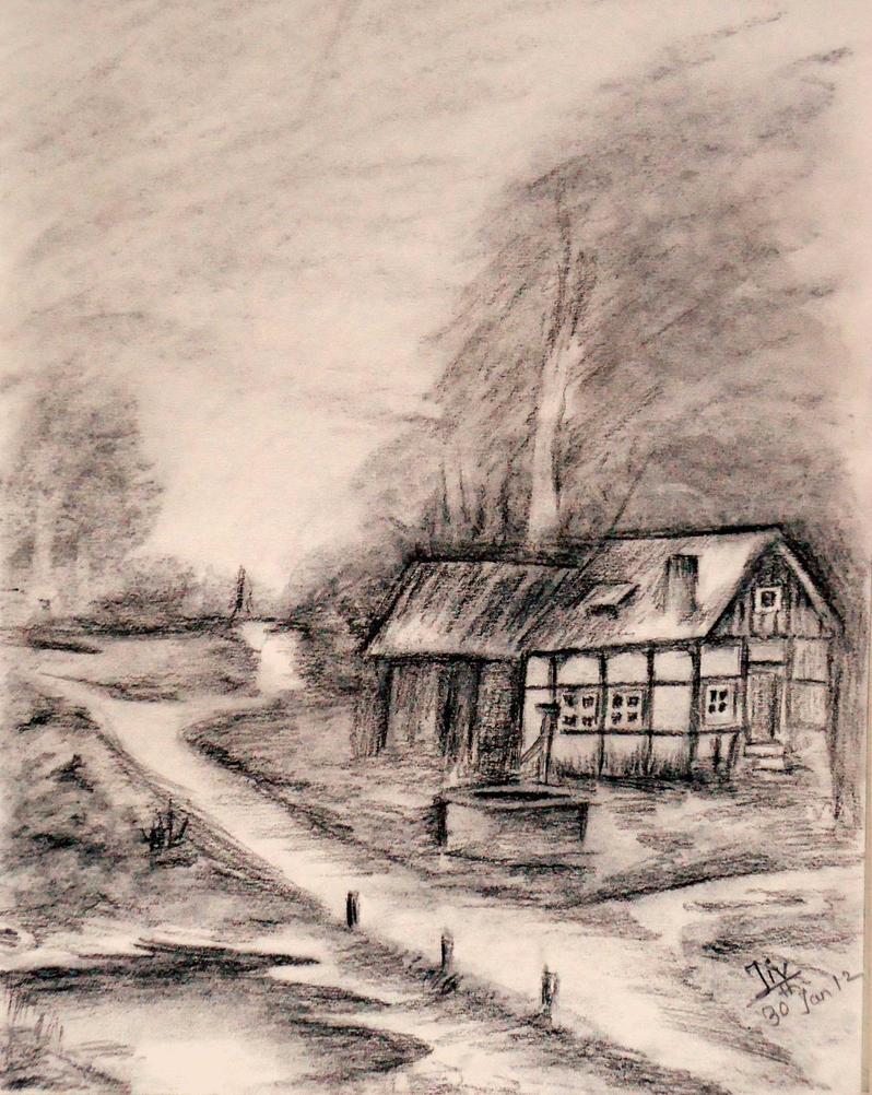 landscape charcoal sketches - photo #11