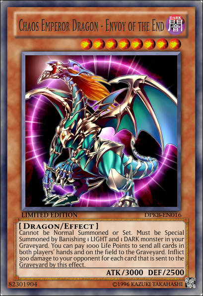 Chaos Emperor Dragon - Envoy of the End by CardHunter