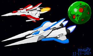 Vic Viper and Lord British (Life Force) by krispy1264
