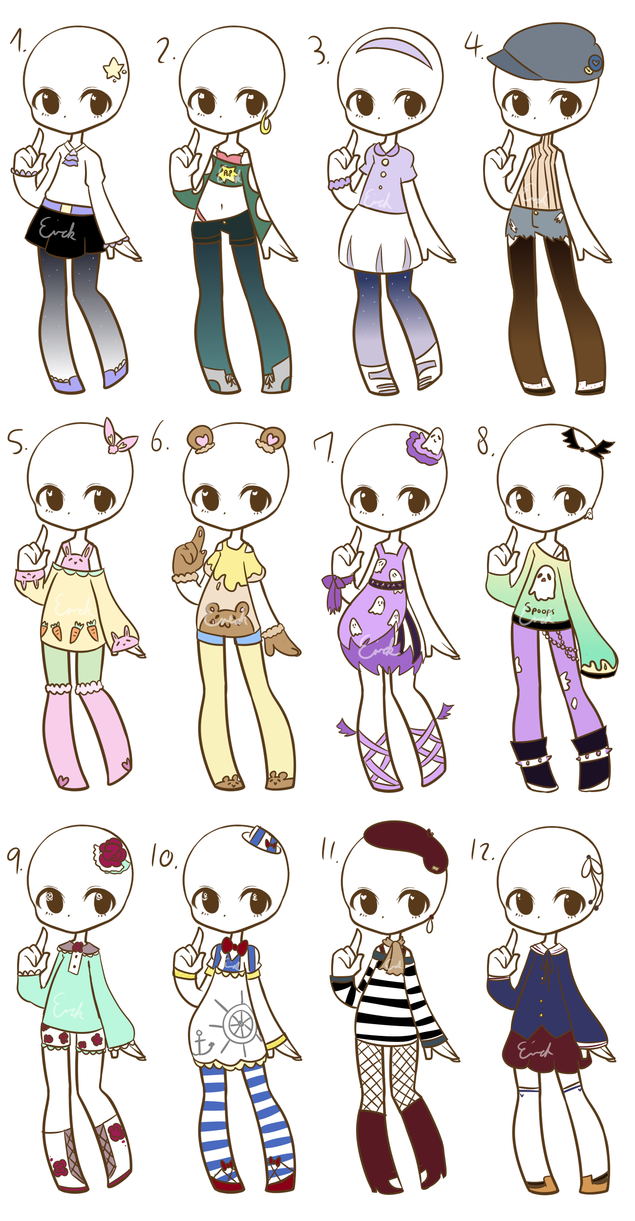Outfit adopts CLOSED by Nuggiez on DeviantArt