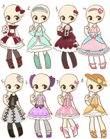 Loli Dresses Adopts 3 :CLOSED: by Nuggiez