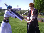 Ichigo and Grimmjow stand off