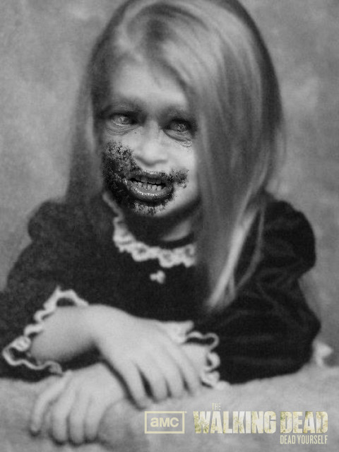 Little Me edited with the Walking Dead App by Satanizmihomedog