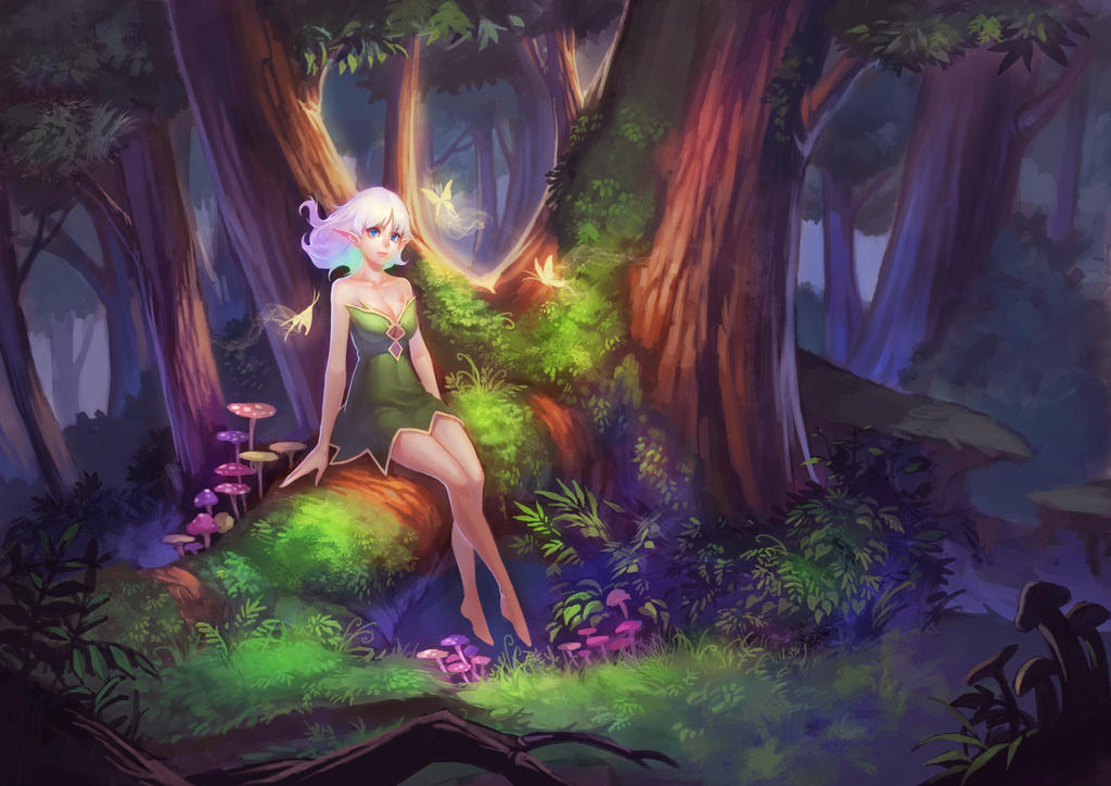 Nature and elf by LSY-kalata