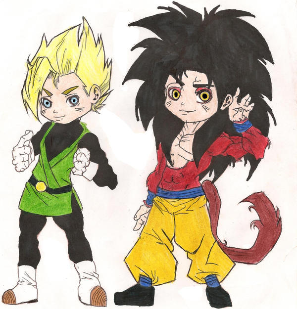 SSJ Gohan And SSJ4 Goku By Sylargrey11 On DeviantArt