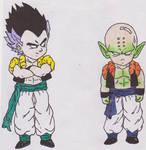Gotenks and Krillin Piccolo Fusion