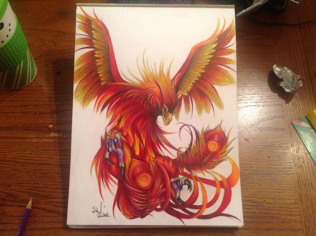 phoenix bird design by akatoniart on deviantart