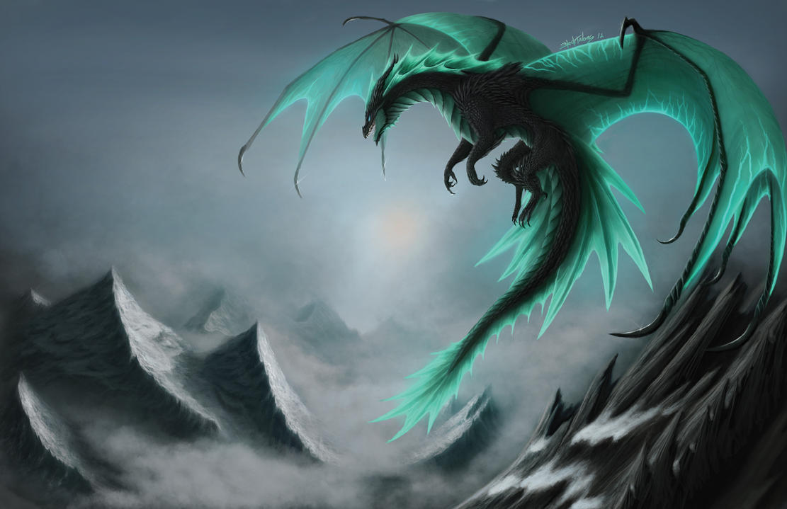 Storm in a Frozen World by Blacktalons on DeviantArt for Fantasy World Art Dragon  110zmd