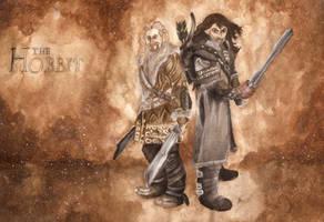 The Hobbit - Fili and Kili by Cziiczi
