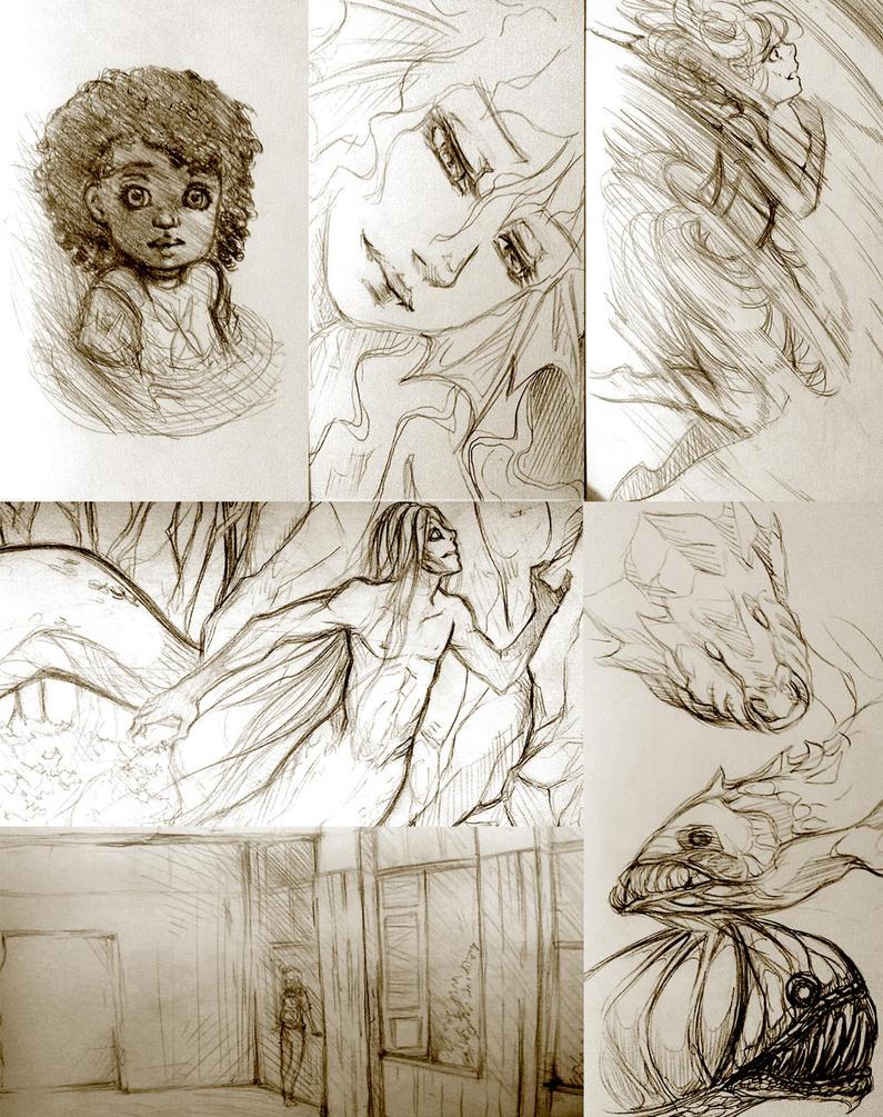 Sketchbook - 1 by RaquelSumeragi