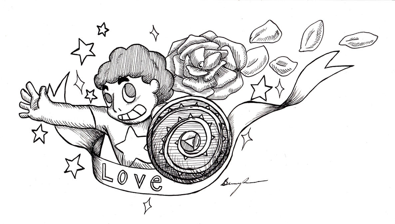 Steven Universe ink by XxCommanderShepardxX