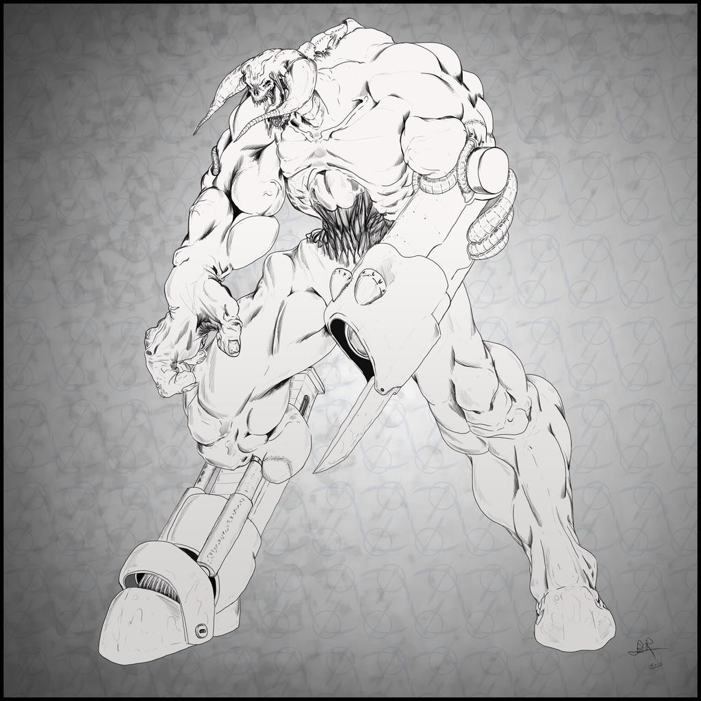 Doom CyberDemon by SabreWing