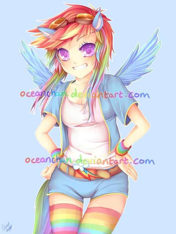 MLP:FiM   Rainbow Dash By Oceantann ...