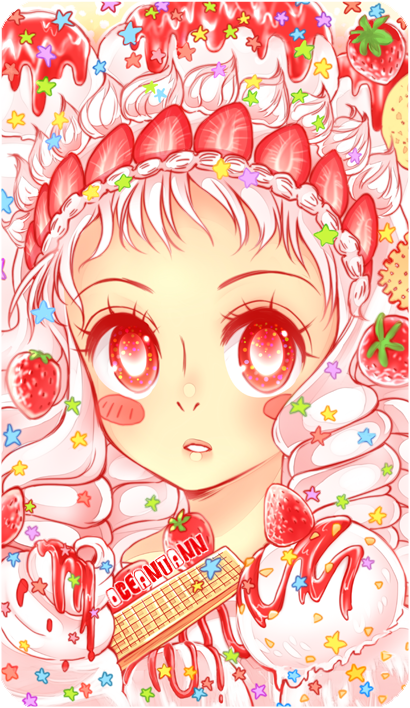 Strawberry Sundae by oceantann