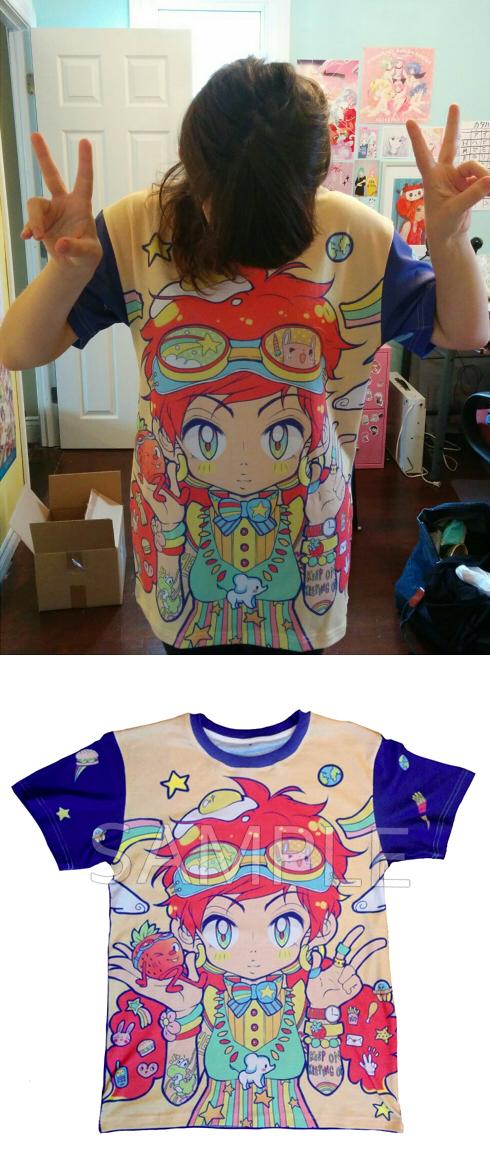 Circus Ganbare! T-Shirt by oceantann