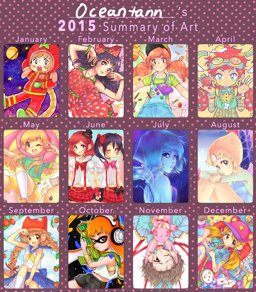 Summary Of Art 2015 by oceantann