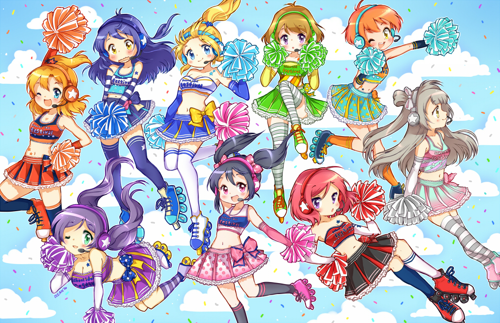 Love Live! Cheerleaders!! by oceantann