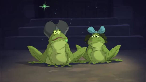 Lady and Drizella Tremaine as toads 2