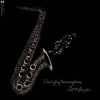Saxophone In Typography by Bakryx