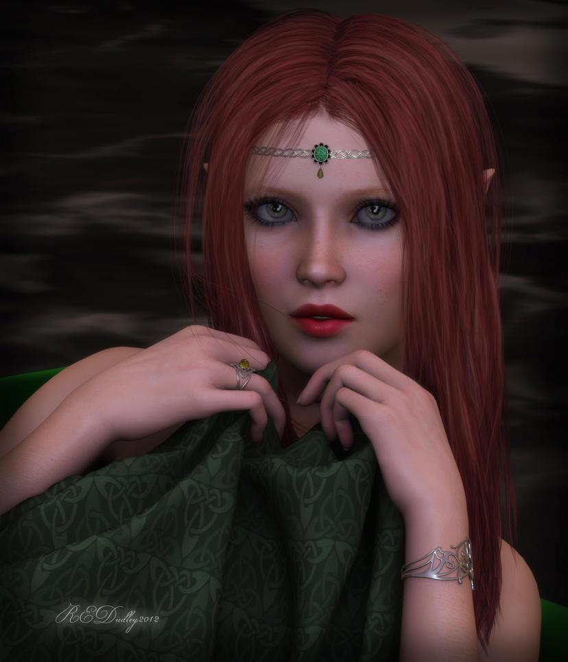 Celtic Elf by AelarethElennar