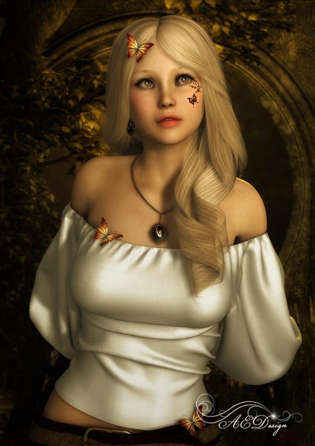 Butterfly Girl by AelarethElennar