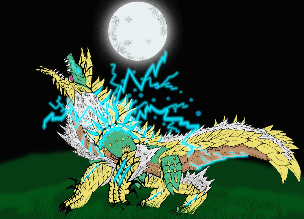 Zinogre Moon by Dragonsmana
