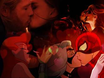 Superhero Valentines Day! by lisardo