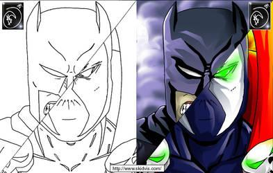 Batman-Spawn by skidvis