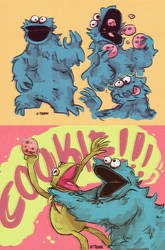 Cookie Monster by Z-T00N