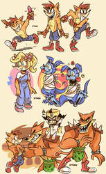 More Crash Doodles by Z-T00N