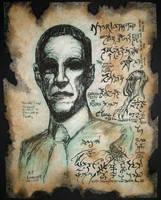 H.P. Lovecraft 1890-1937 by MrZarono
