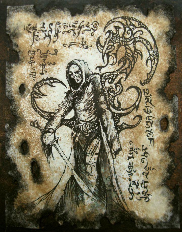 Skull Faced Sorcerer by MrZarono
