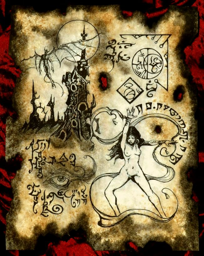 The Witch of Kadath by MrZarono
