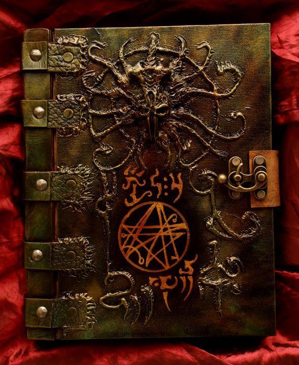How To Make A Realistic Book Cover : Necronomicon book of the dark path by mrzarono on deviantart