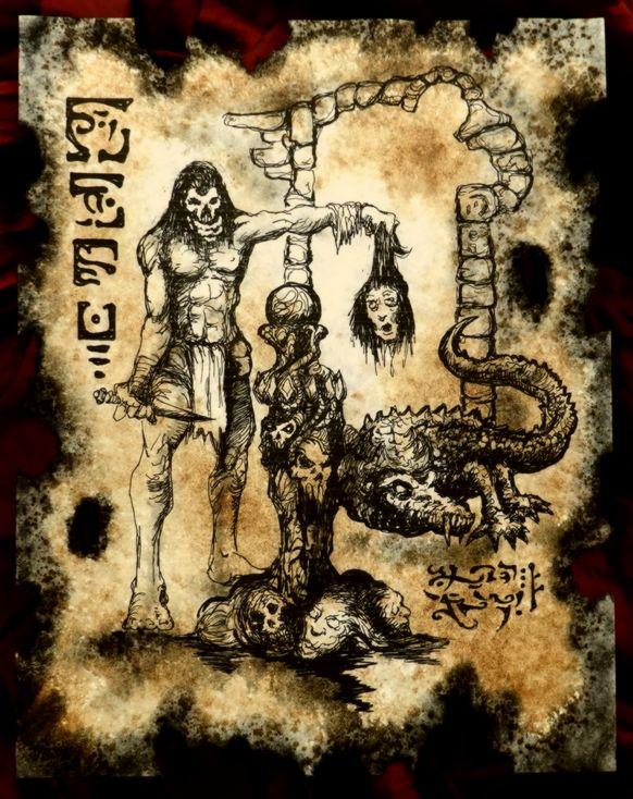 Return of the Burning Skull by MrZarono