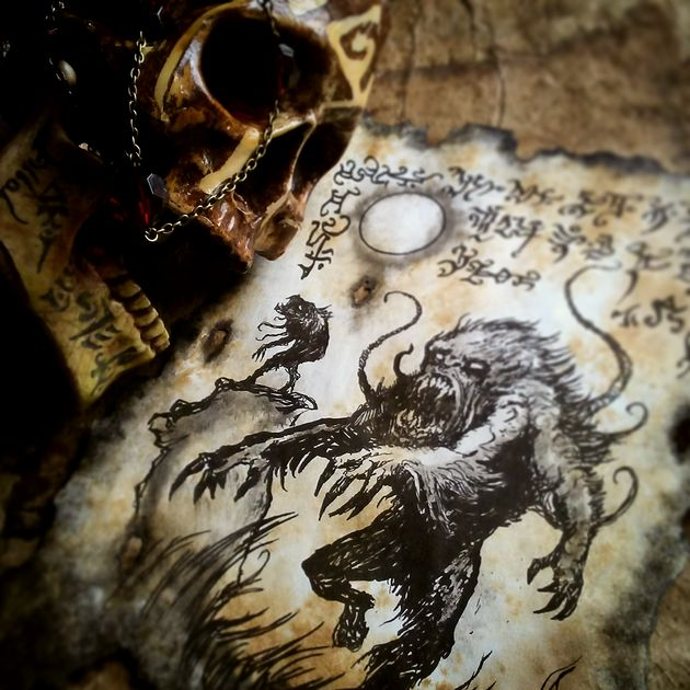 The Sorcerers were bone and dust