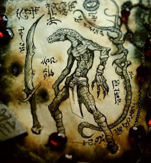 Hissing incantations in dark aeons before man