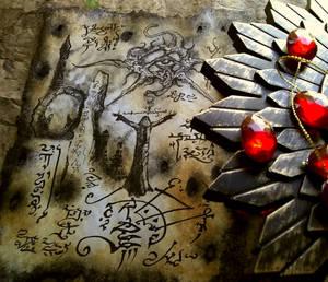 Symbols carved in hidden shrines