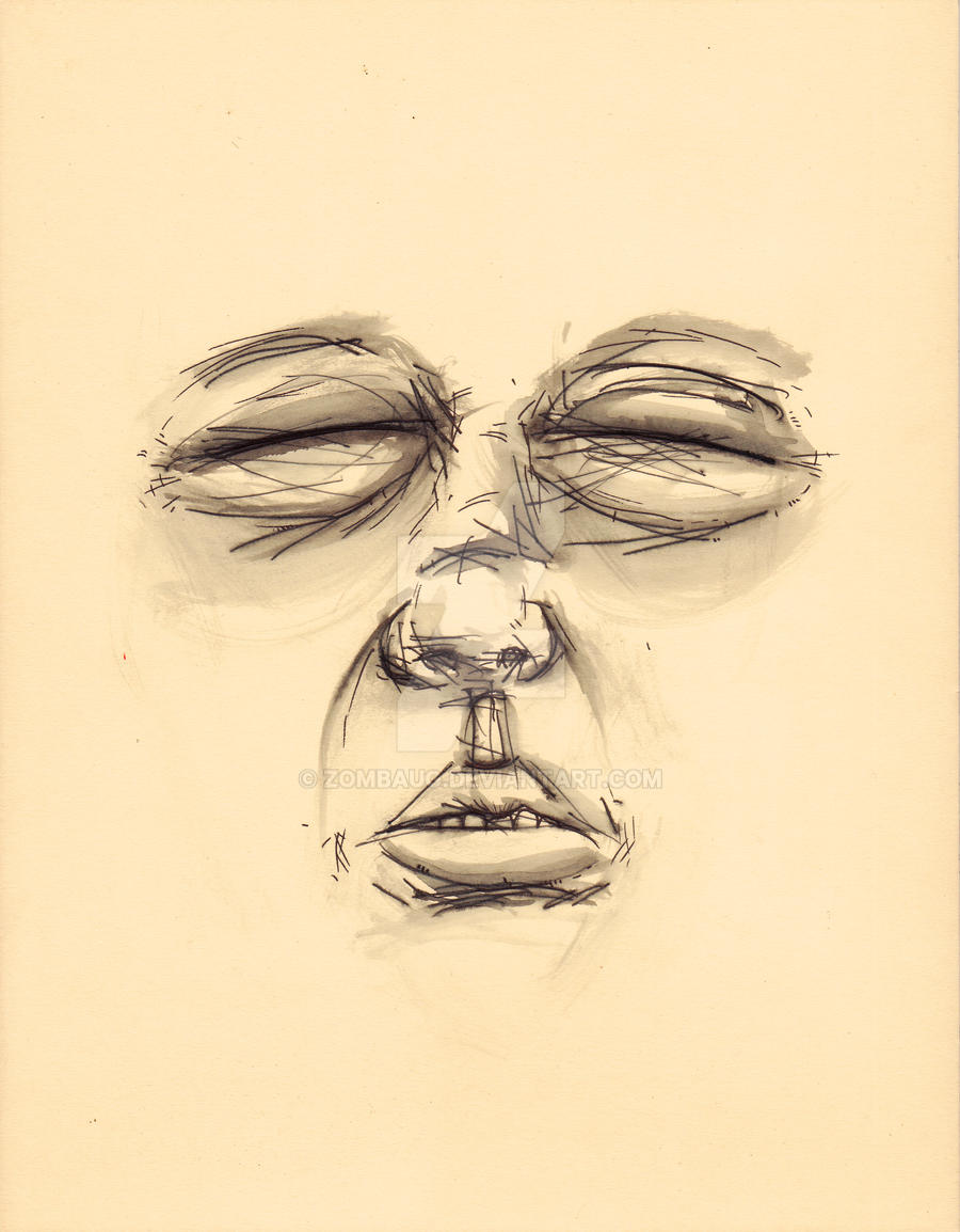 Untitled Face Study 7 by ZombAug