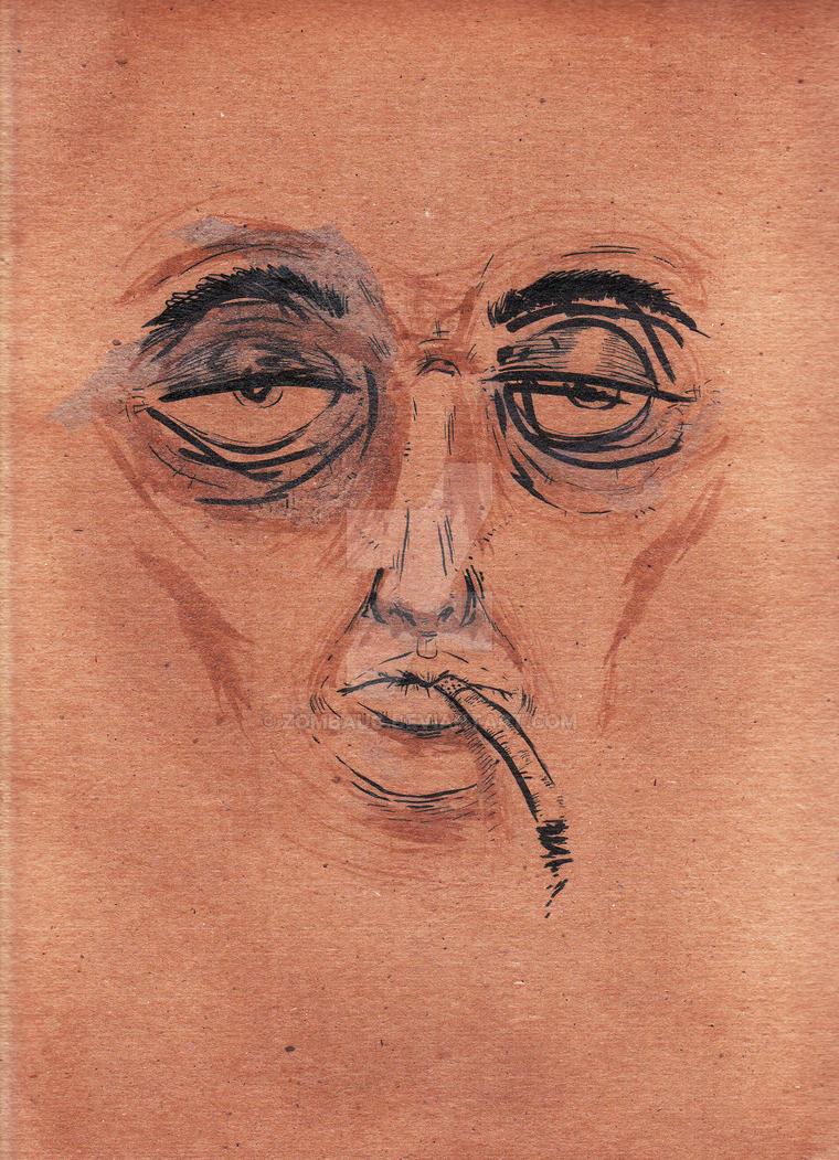 Untitled Face Study 8 by ZombAug