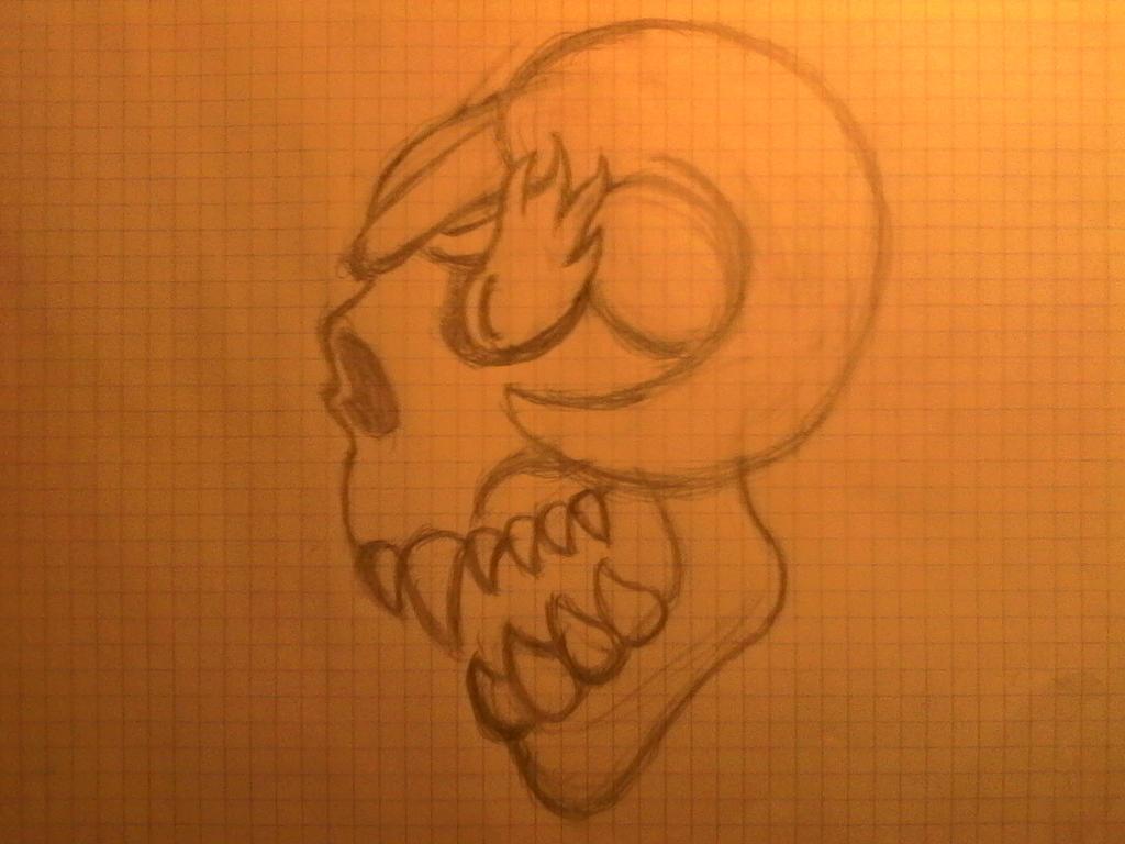 raging skull by guldric906
