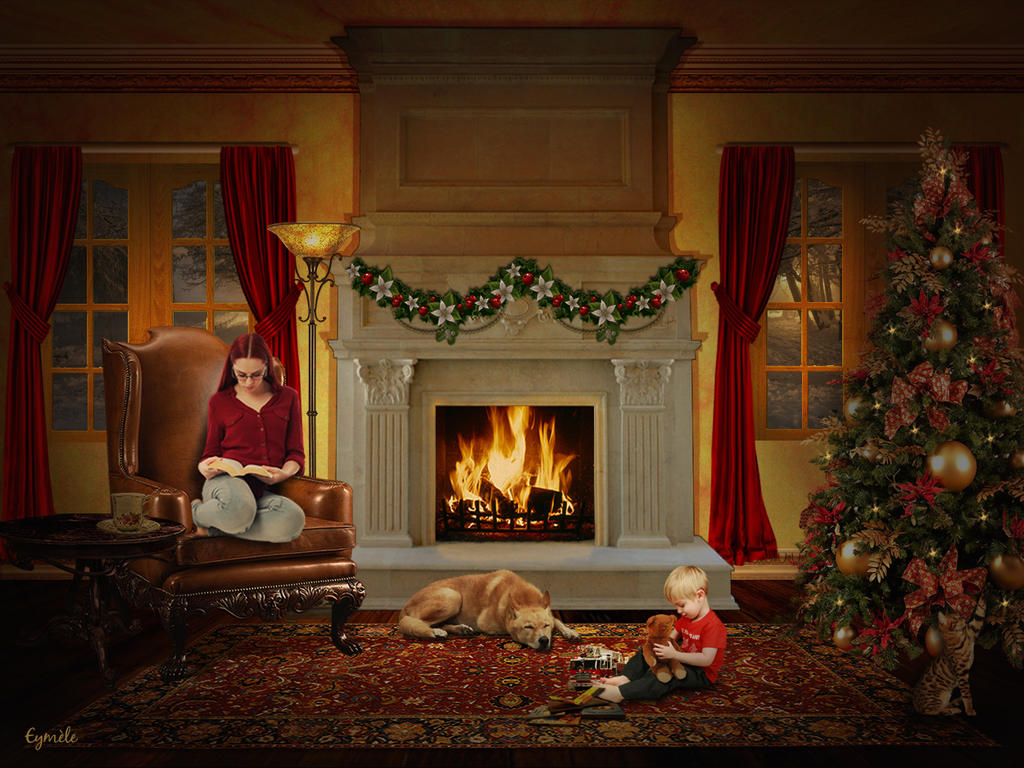 Waiting for Santa Claus by Eymele