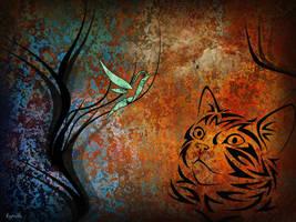 Le chat et l'oiseau