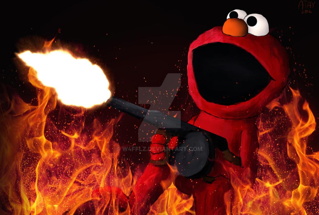 Muppets Gone Bad: ELMO by w4fflz on DeviantArt