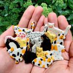 Ceramic animal friends I make!