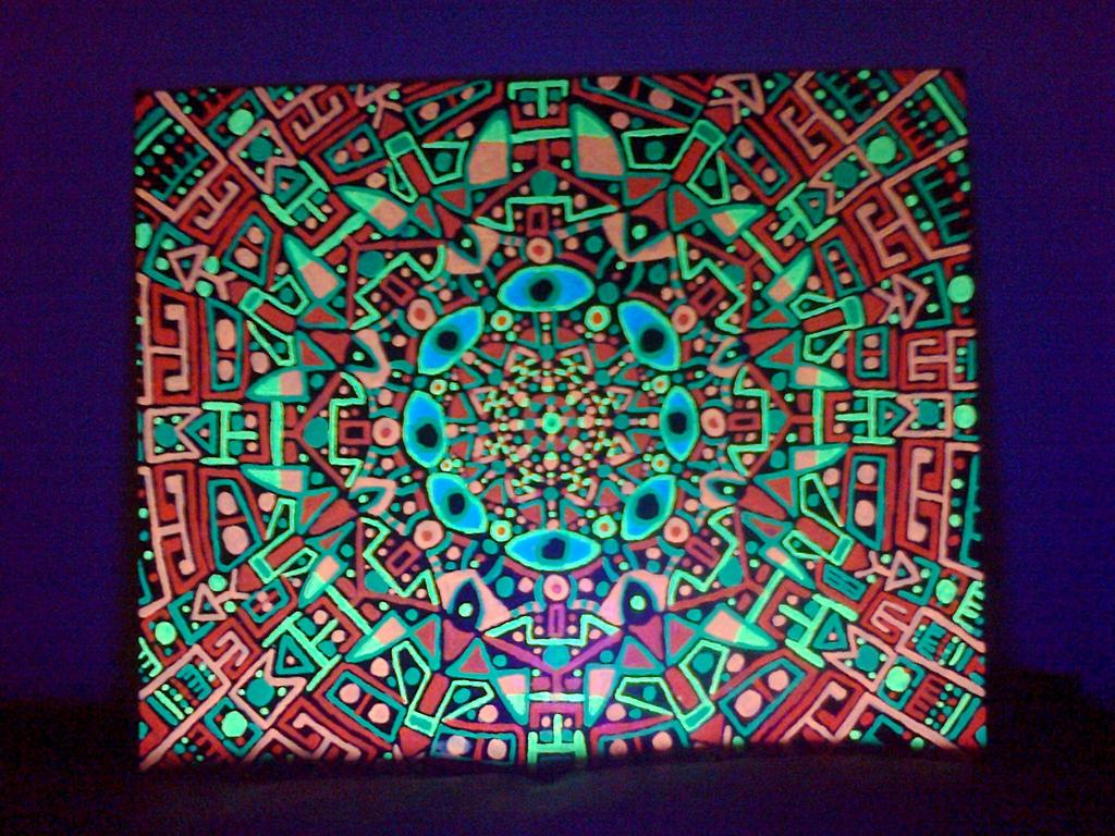 46 x 38 cm canvas, uv paint.