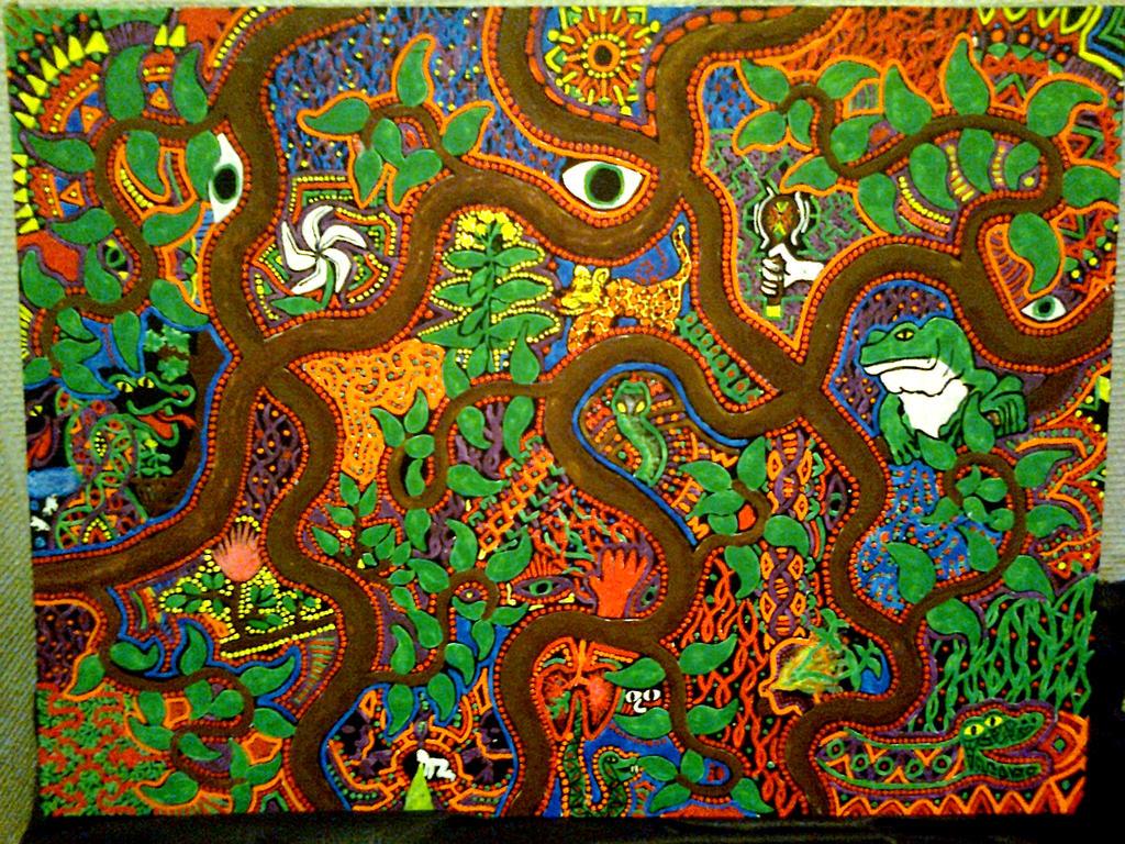 Plant Visions (46 x 61 cm canvas, UV Paint)