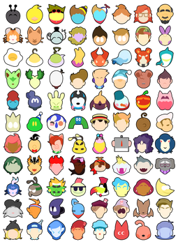 Smash Bros Ultimate Stock Icons- 88 of my OC's!